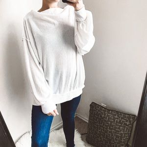 we the free - soft knit pullover sweater ribbed